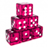 Translucent Hot Pink Dices Angled.png