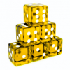 Translucent Yellow Dices Angled.png