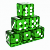 Translucent Green Dices Angled.png