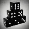 Translucent Solid Black Dices Angled.png