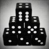 Translucent Solid Black Dices.png
